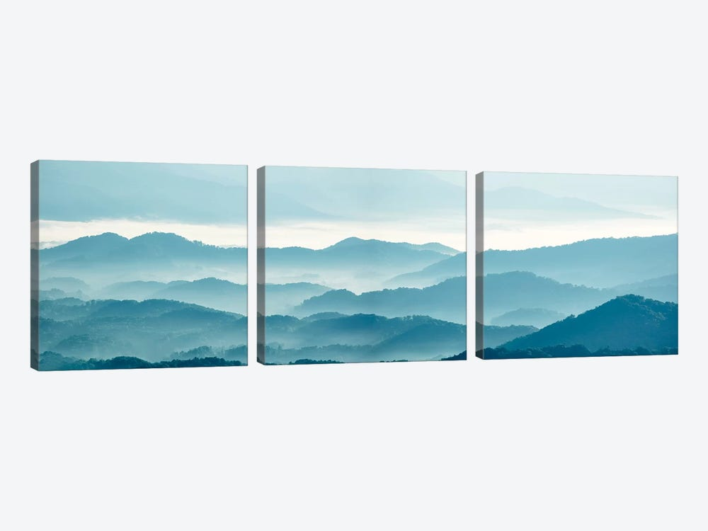 Misty Mountains X by James McLoughlin 3-piece Canvas Art Print