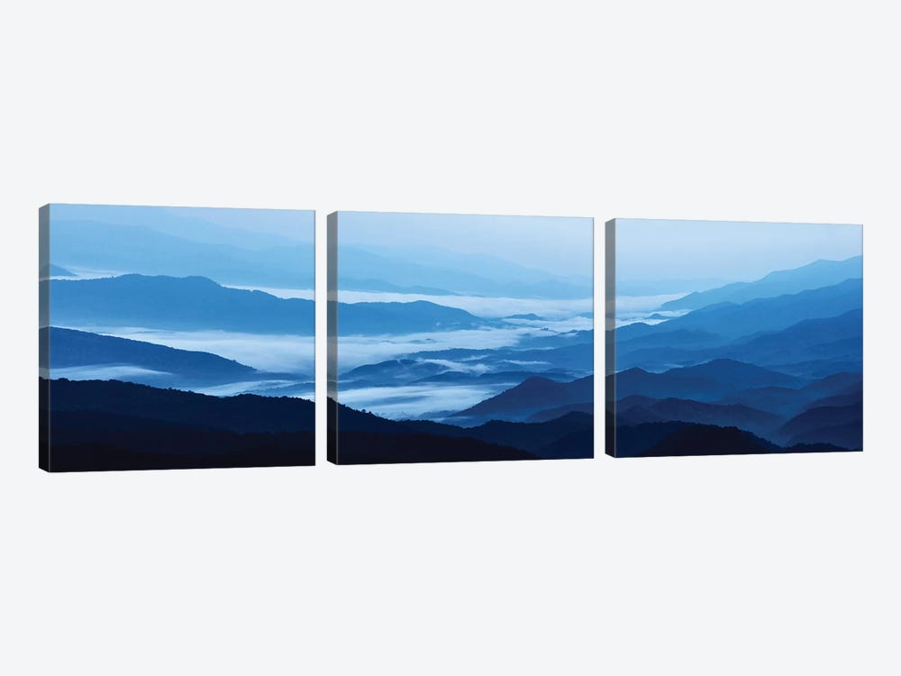 Misty Mountains XIII by James McLoughlin 3-piece Canvas Art Print