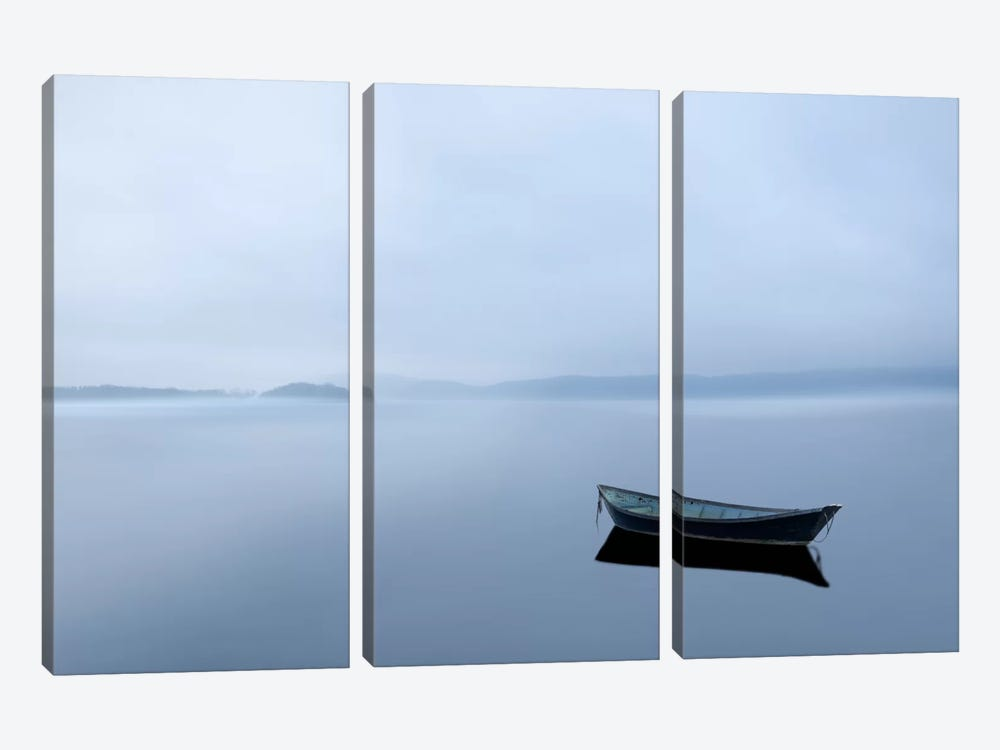 Scene On The Water II by James McLoughlin 3-piece Canvas Art Print