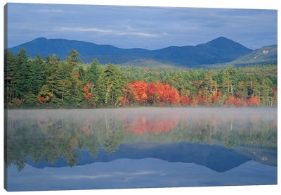 Autumn Reflections, Chocorua Lake, Carroll County, New Hampshire, USA Canvas Art Print