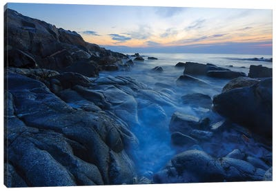 Dawn on Appledore Island, Maine. Isles of Shoals. Canvas Art Print