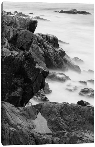 Rocks and surf. Wallis Sands State Park, Rye, New Hampshire II Canvas Art Print