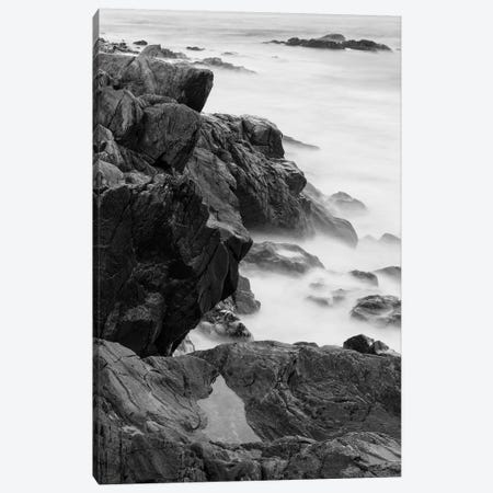 Rocks and surf. Wallis Sands State Park, Rye, New Hampshire II 3-Piece Canvas #JMM6} by Jerry & Marcy Monkman Canvas Art