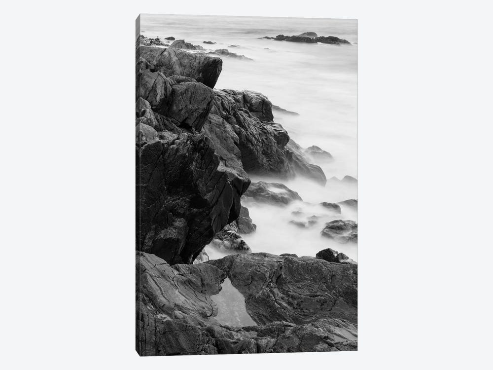 Rocks and surf. Wallis Sands State Park, Rye, New Hampshire II by Jerry & Marcy Monkman 1-piece Canvas Wall Art