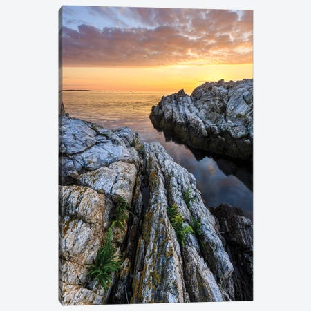 Sunrise on Appledore Island in the Isles of Shoals, New Hampshire I Canvas Print #JMM7} by Jerry & Marcy Monkman Canvas Art