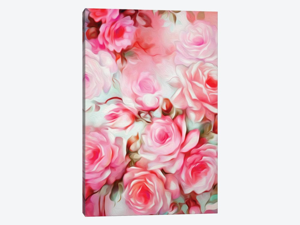 Shabby Chic Pink 1-piece Canvas Print
