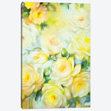 Shabby Chic Yellow Canvas Print #JMO101} by Jacqueline Maldonado Canvas Print