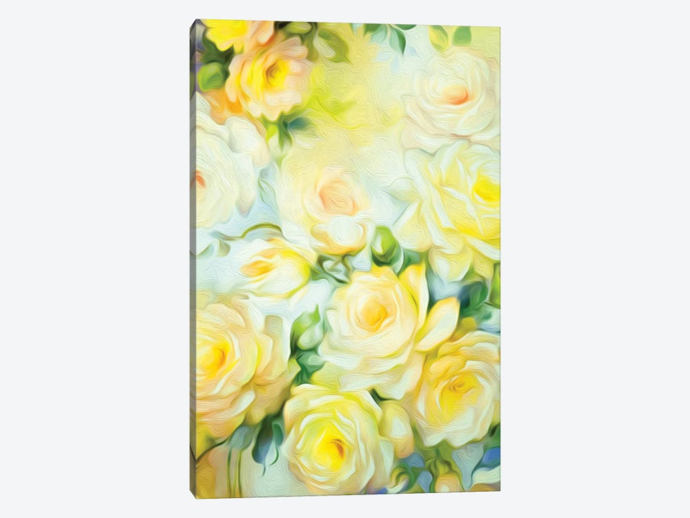 Shabby Chic Yellow 1-piece Canvas Wall Art