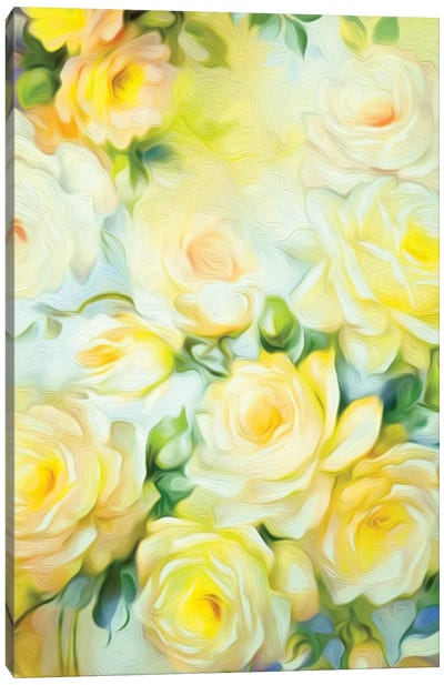 Shabby Chic Yellow Canvas Art Print