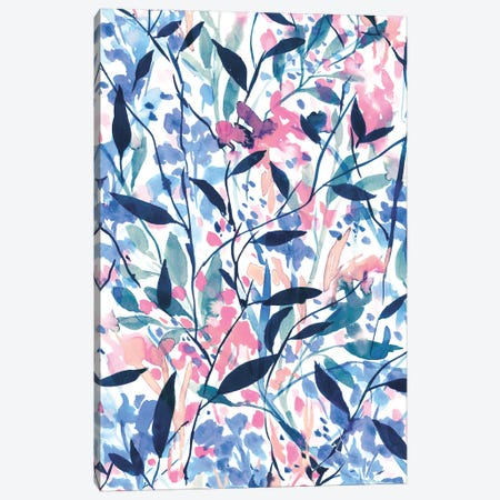 Wandering Wildflowers Blue Canvas Print #JMO106} by Jacqueline Maldonado Canvas Artwork