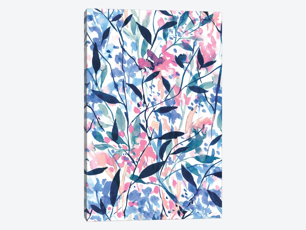 Wandering Wildflowers Blue by Jacqueline Maldonado 1-piece Art Print