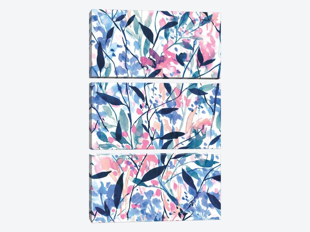 Wandering Wildflowers Blue by Jacqueline Maldonado 3-piece Art Print