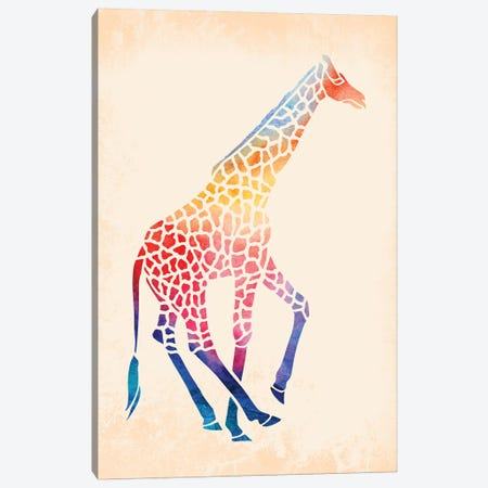 Watercolor Giraffe Canvas Print #JMO107} by Jacqueline Maldonado Canvas Wall Art