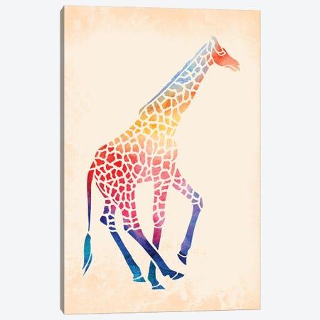 Watercolor Giraffe Canvas Print #JMO107} by Jacqueline Maldonado Canvas Wall Art