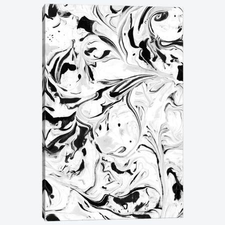 Black & White Marble Canvas Print #JMO108} by Jacqueline Maldonado Canvas Art Print