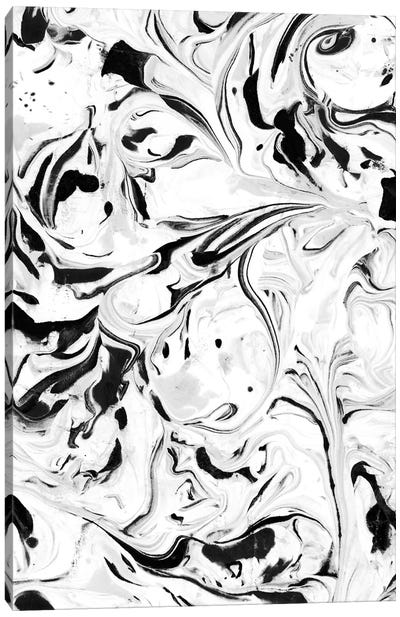 Black & White Marble Canvas Art Print