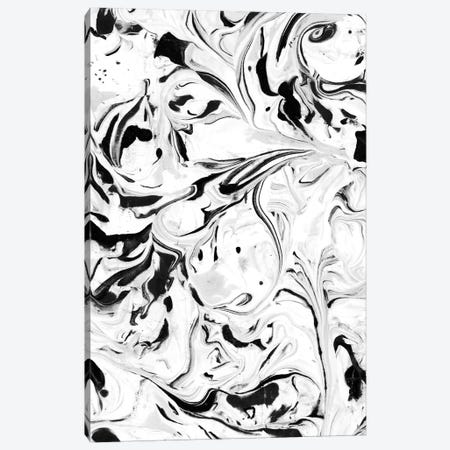 Black & White Marble Canvas Print #JMO108} by Jacqueline Maldonado Canvas Art Print