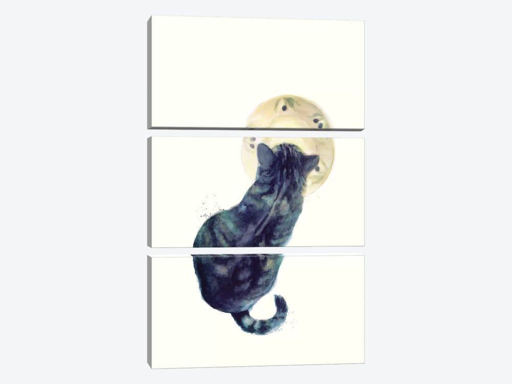 Kitten & Saucer by Jacqueline Maldonado 3-piece Canvas Print