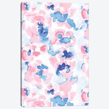 Abstract Flora Pastel Wandering Canvas Print #JMO128} by Jacqueline Maldonado Canvas Art Print