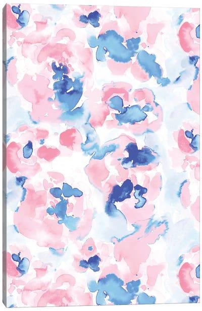 Abstract Flora Pastel Wandering Canvas Art Print