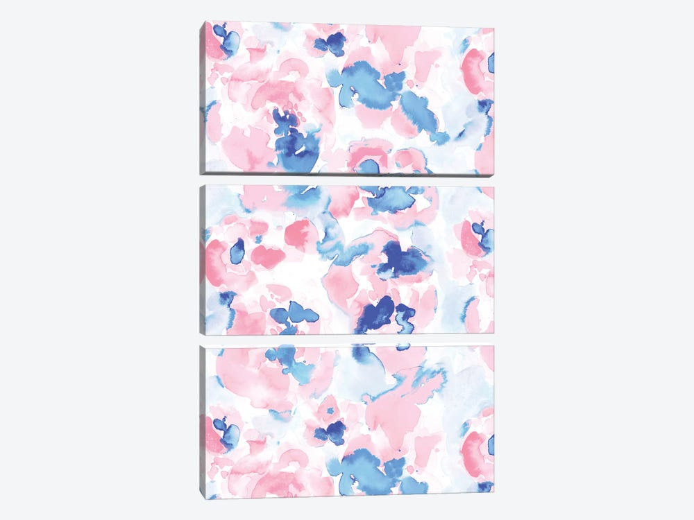 Abstract Flora Pastel Wandering 3-piece Canvas Print