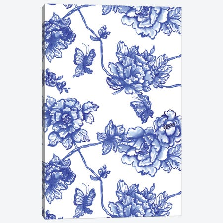 Chinoiserie Florals Canvas Print #JMO129} by Jacqueline Maldonado Art Print