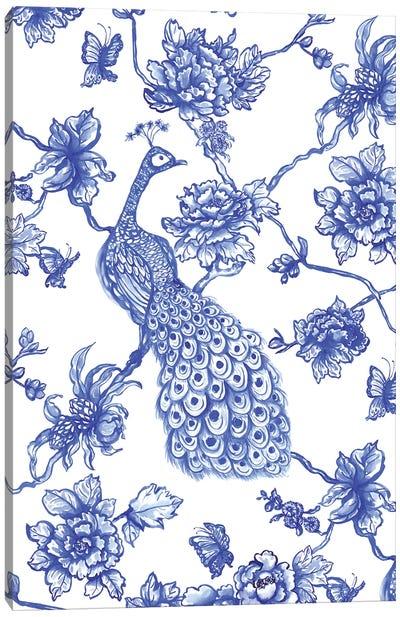 Chinoiserie Peacock Canvas Art Print