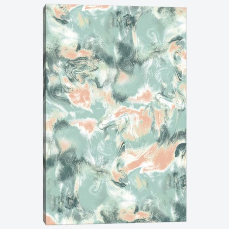 Marble Mist Green Peach Canvas Print #JMO140} by Jacqueline Maldonado Canvas Print