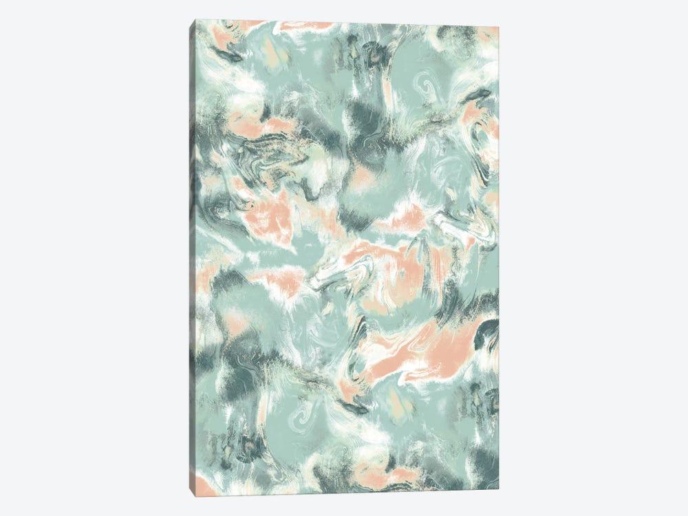 Marble Mist Green Peach by Jacqueline Maldonado 1-piece Art Print