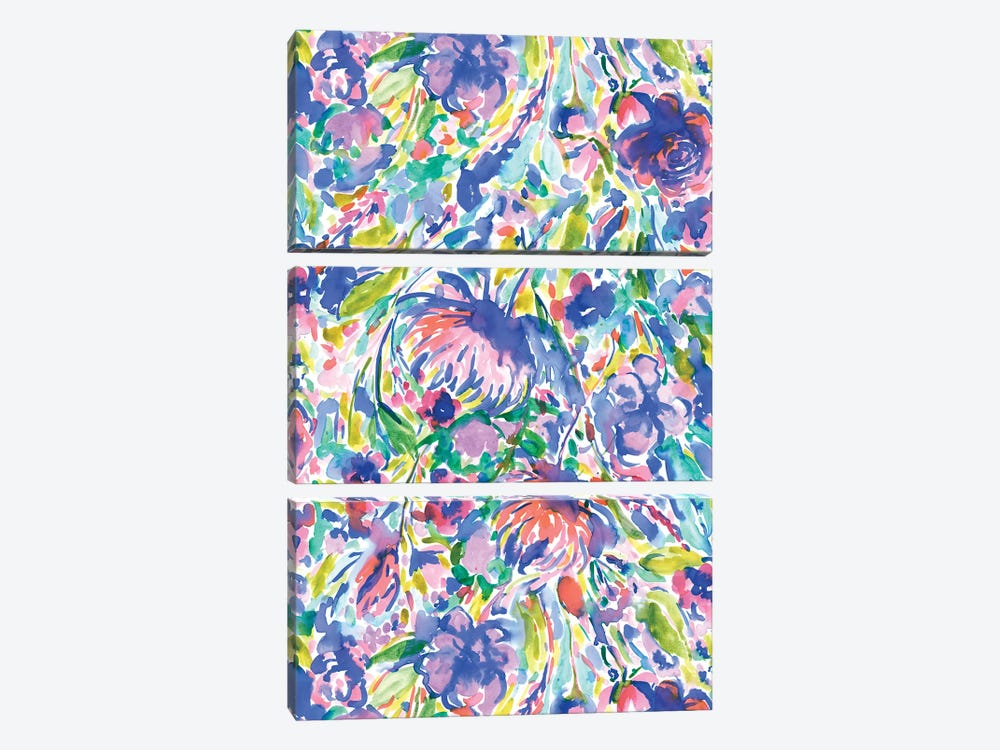 Maximal Floal Wild Free by Jacqueline Maldonado 3-piece Canvas Wall Art