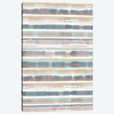Watercolor Stripe Earthy Canvas Print #JMO156} by Jacqueline Maldonado Canvas Print