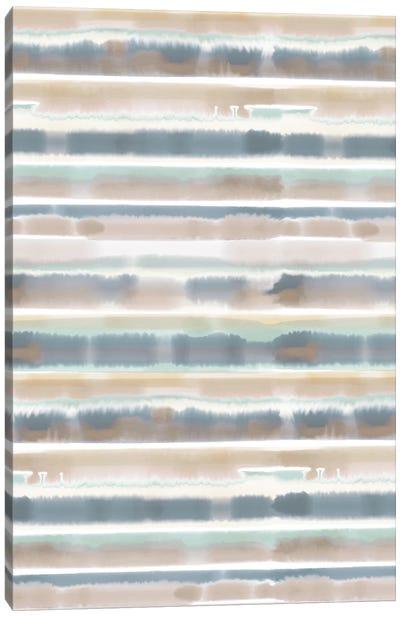 Watercolor Stripe Earthy Canvas Art Print