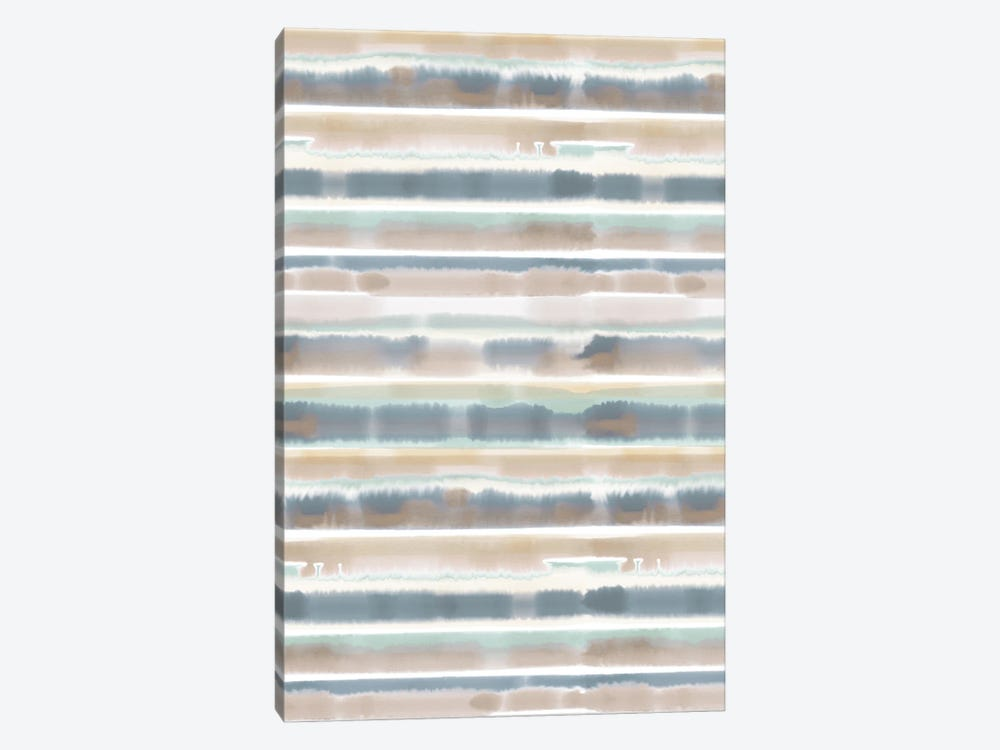 Watercolor Stripe Earthy by Jacqueline Maldonado 1-piece Canvas Art