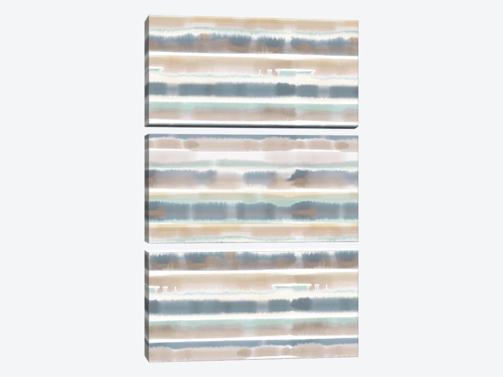 Watercolor Stripe Earthy by Jacqueline Maldonado 3-piece Canvas Wall Art