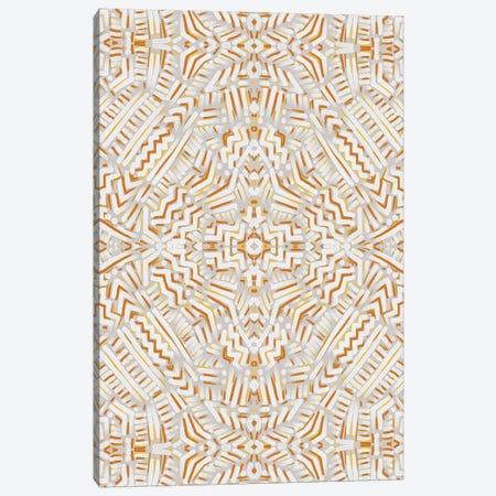 Clandestine White Orange Canvas Print #JMO159} by Jacqueline Maldonado Canvas Art