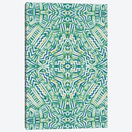Clandestine Green Yellow Canvas Print #JMO160} by Jacqueline Maldonado Canvas Print