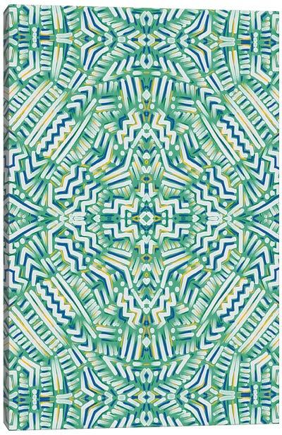 Clandestine Green Yellow Canvas Art Print