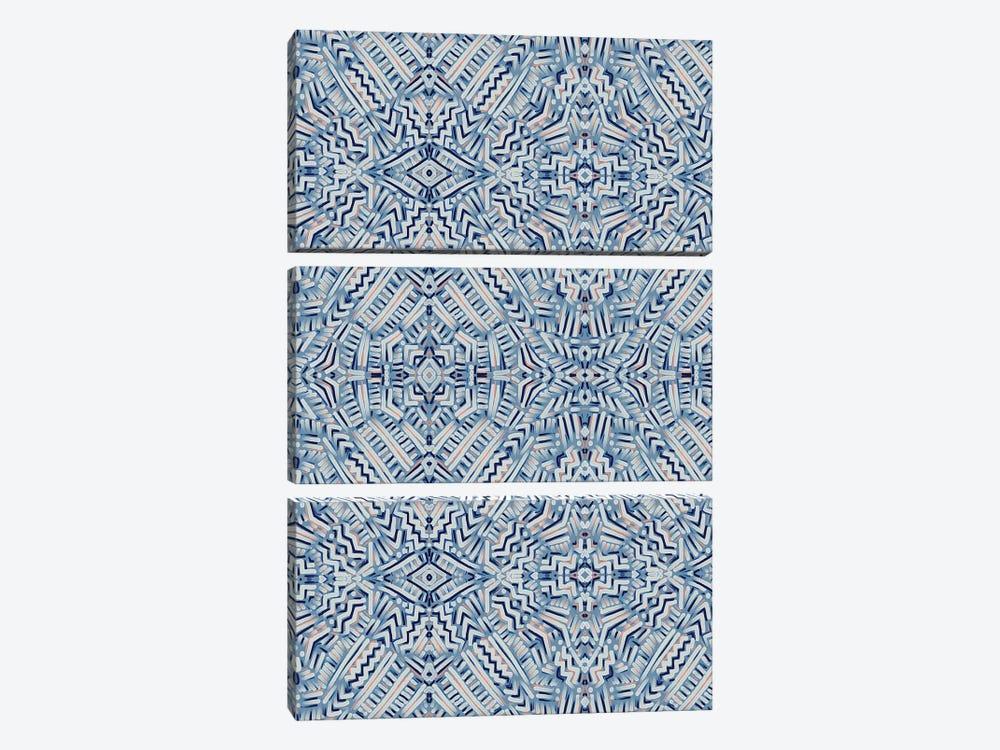 Clandestine Blue by Jacqueline Maldonado 3-piece Canvas Artwork