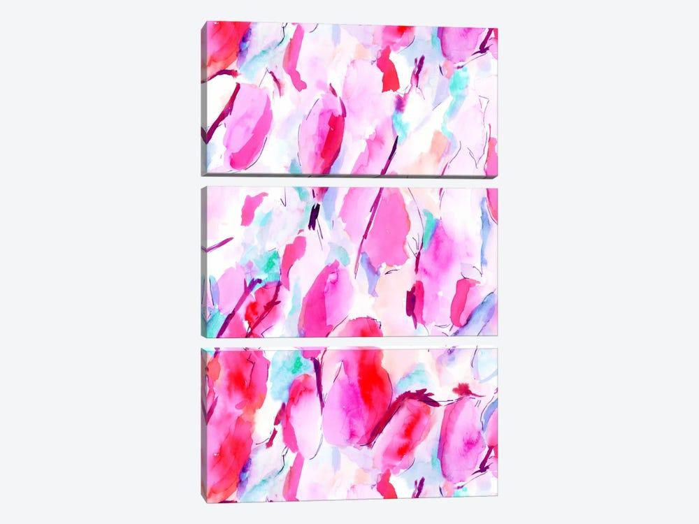 Synesthete Pink by Jacqueline Maldonado 3-piece Canvas Art