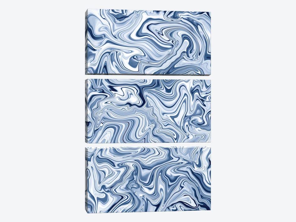 Love Spell Marble Blue by Jacqueline Maldonado 3-piece Canvas Print