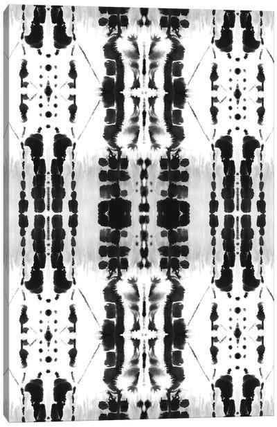 Paradigm Black And White Canvas Art Print