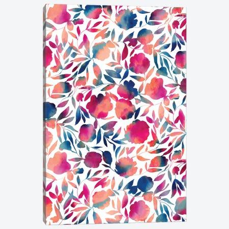 Watercolor Floral Papercut Vibrant Multi Canvas Print #JMO189} by Jacqueline Maldonado Canvas Print