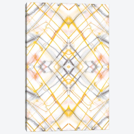 Diamond Dye Grid Yellow Canvas Print #JMO194} by Jacqueline Maldonado Art Print