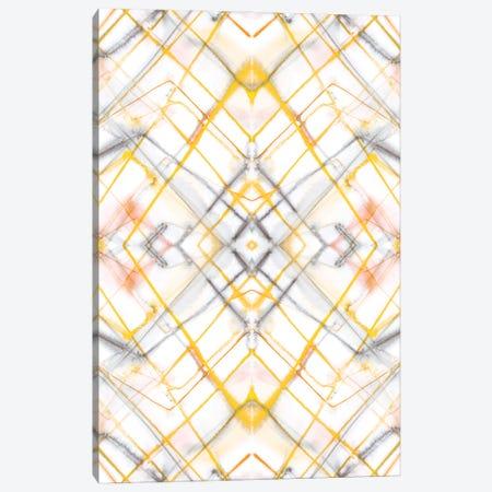 Diamond Dye Grid Yellow Canvas Print #JMO194} by Jacqueline Maldonado Art Print