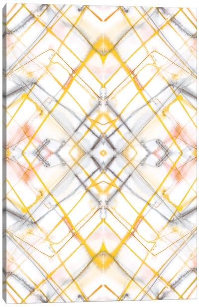 Diamond Dye Grid Yellow Canvas Art Print