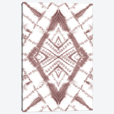 Dye Diamond Taupe Canvas Print #JMO195} by Jacqueline Maldonado Art Print