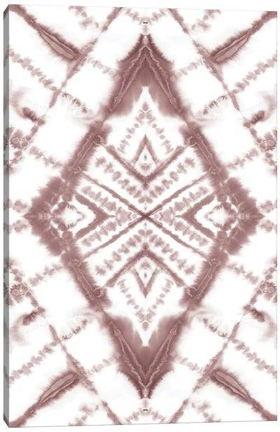 Dye Diamond Taupe Canvas Art Print