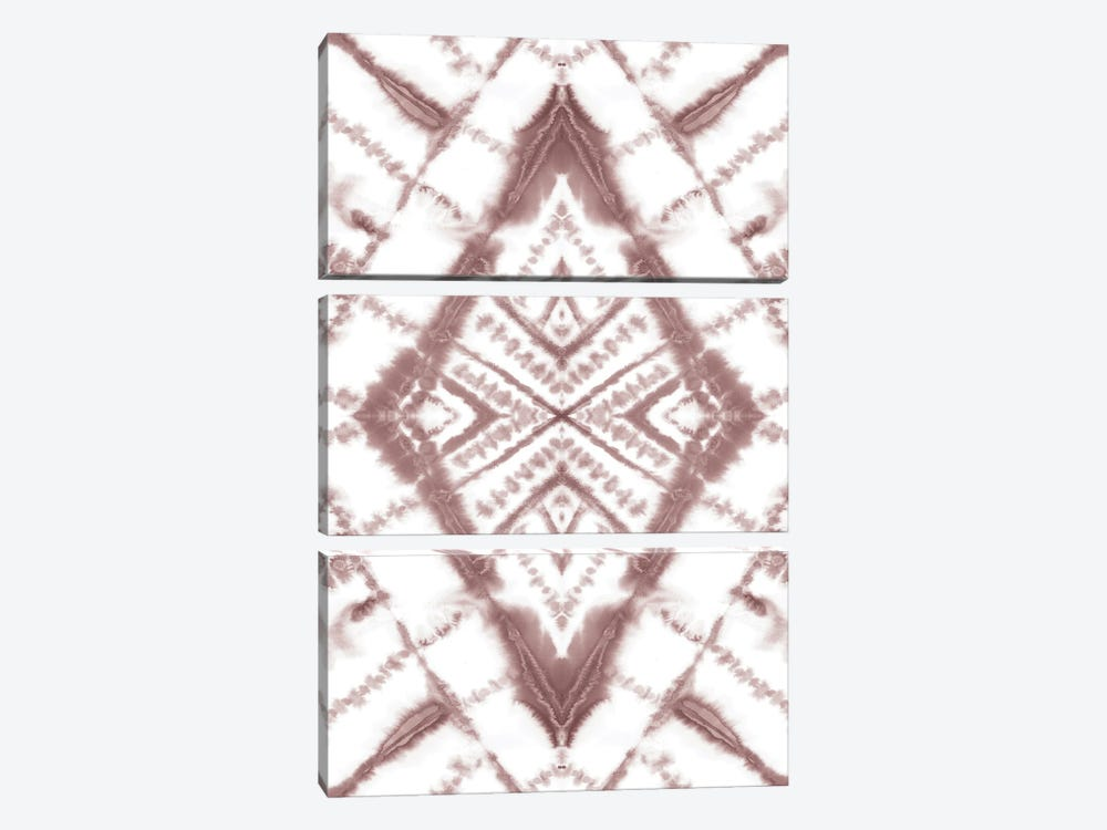 Dye Diamond Taupe by Jacqueline Maldonado 3-piece Canvas Print