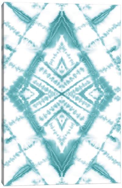 Dye Diamond Sea Glass Canvas Art Print