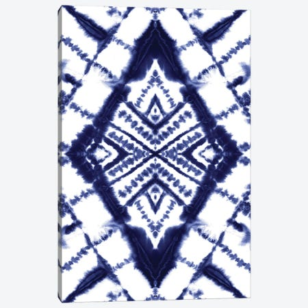 Dye Diamond Indigo Canvas Print #JMO197} by Jacqueline Maldonado Canvas Print